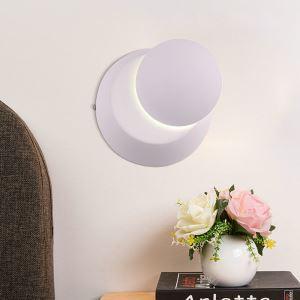 Applique murale LED en acrylique L14cm rond blanc pour chambre salle
