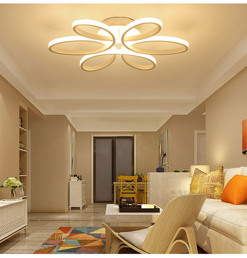 plafonnier fleur LED