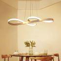 Suspension LED en L77.5cm en silicone acrylique vague blanc pour salle cuisine
