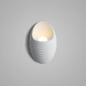 Applique murale LED en acrylique H17cm ellipse blanc pour chambre salle