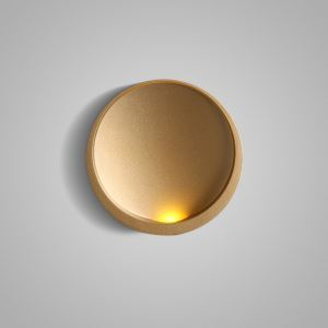 Applique murale LED en acrylique L16cm rond or pour chambre salle