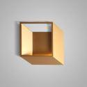 Applique murale LED en acrylique L25.5cm cube or pour chambre salle