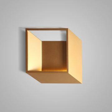 Applique Murale Led En Acrylique L255cm Cube Or Pour Chambre Salle