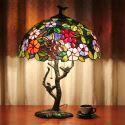 Lampe à poser rétro à 2 lumières H56cm lampe de chevet luminaire pour chambre délicat design