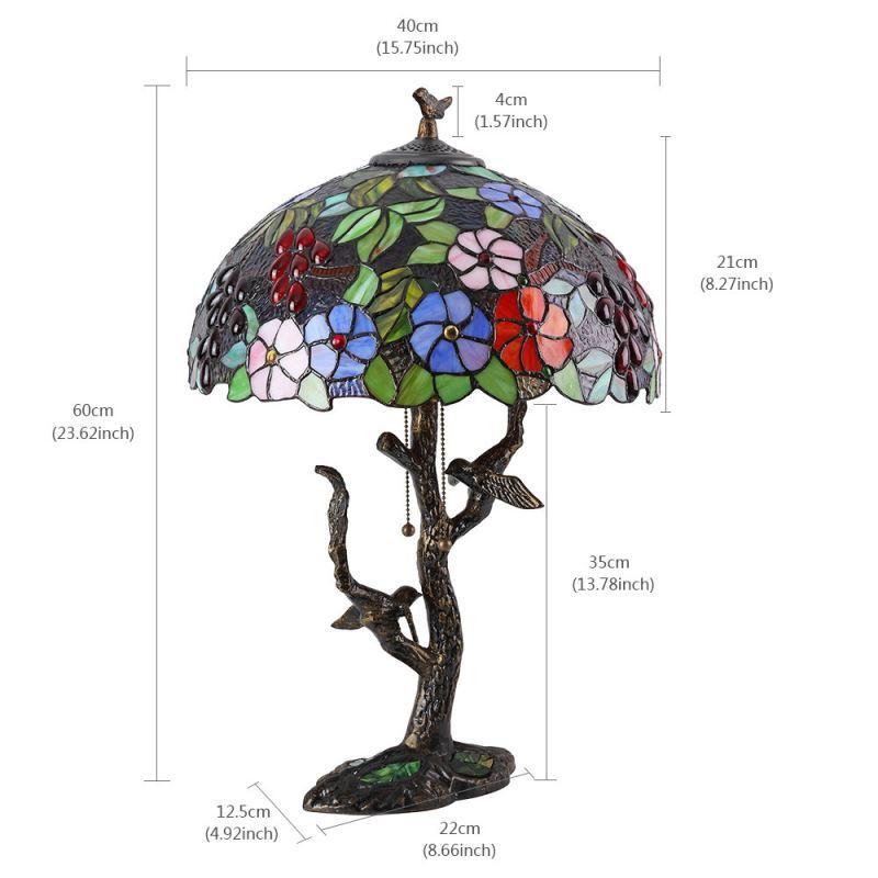 Luminaire Chambre Délicat De Chevet Pour Lumières H56cm À Design Tiffany Lampe Poser 2 htrCsQd