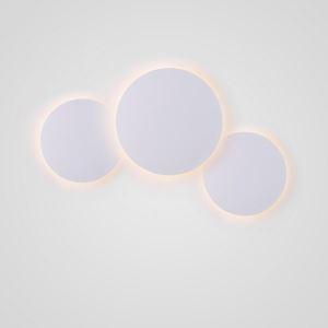 Applique murale LED en acrylique D25/20cm 3 ronds blanc pour chambre salle