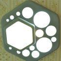 Plafonnier LED en résine D24cm hexagone vert pour chambre salon