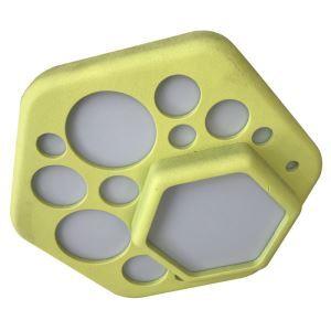 Plafonnier LED en résine D24cm hexagone jaune pour chambre salon