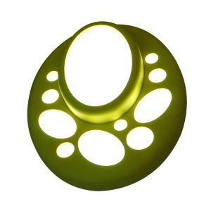 Plafonnier LED en résine H22cm ellipse vert pour chambre salon