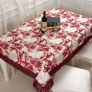 Drap de table en chenille jacquard magnifique classique