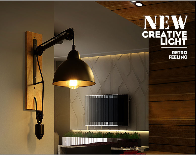 Applique murale h53cm luminaire pour chambre couloir style