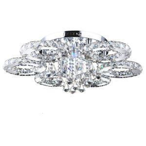 Plafonnier Cristal LED D 80 cm luminaire de chambre salle salon