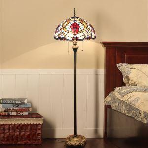 Lampadaire tiffany en verre H165cm coloré pour salle