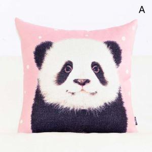 Taie de coussin oreiller lombaire petit animal rose mignon doux
