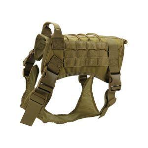 Gilet de dressage avec sac en nylon 1000D pour chien grand