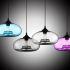 Afficher les détails pour Lustre en verre D28cm moderne décoratif suspension en conception de bulle luminaire cuisine lampe pour salle chambre