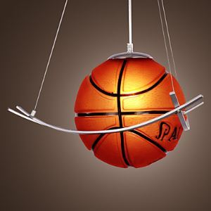 Suspension Basket-ball lampe D50cm pour chambre d'enfant