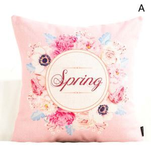 Taie de coussin oreiller lombaire en lin fleur romantique pour fête mariage