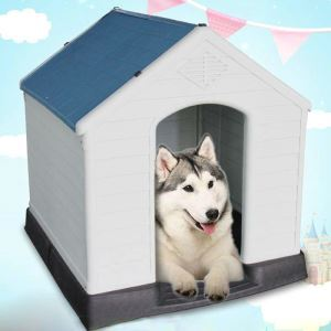 Cage en plastique résistant à la pluie extérieur amovible lavable respirant pour chien