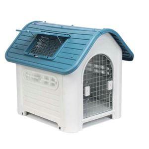 Cage avec porte lucarne en plastique résistant à la pluie extérieur amovible lavable pour chien