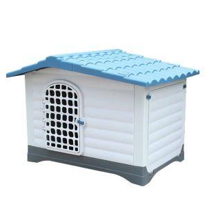 Cage avec porte en plastique résistant à la pluie extérieur lavable pour chien grand