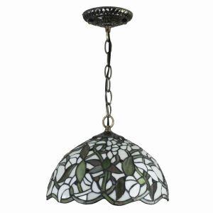 Suspension en verre tiffany à motif gardenia jasminoides luminaire pour chambre salon cuisine chambre