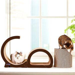 Plaque à griffes en carton ondulé lettre pour chats
