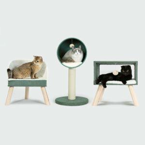Étagère d'escalade en bois sisal pour chat