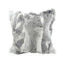 Taie de coussin fourrure réel 100% poil de lapin vrai oreiller 45*45cm