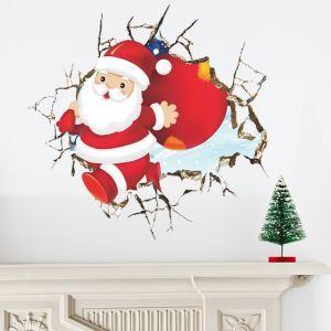 Sticker 3D Père Noël livraison gratuite
