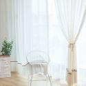 Voilage jacquard en coton polyester pour chambre à coucher pastoral classique