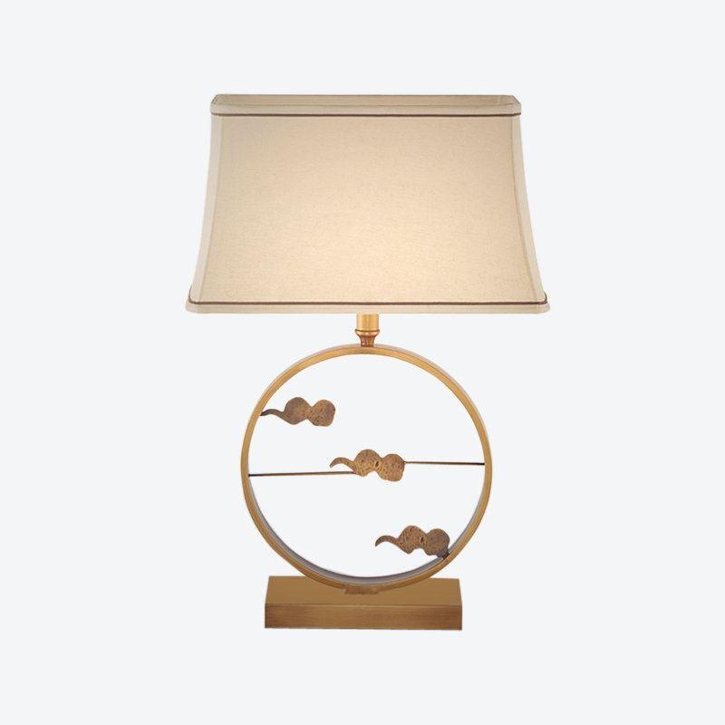 Lampe Chambre H69cm Poser En Nuage À Pour Salon Jour Abat Blanc Cuivre De Or Tissu K1clFJ
