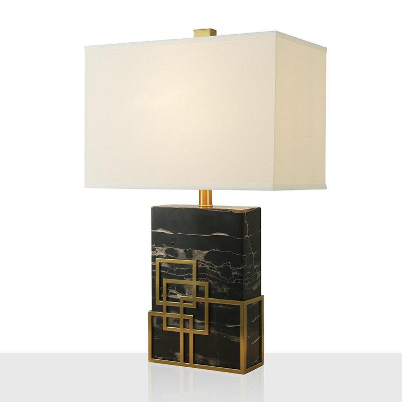Poser Abat À En Fer Lampe Salon Marbre Jour H65cm Chambre Blanc Noir De Pour Tissu TK31JlFc