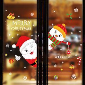 Sticker Père Noël bonhomme de neige livraison gratuite