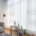 Voilage jacquard géométrique pour chambre d'étude salon simple moderne