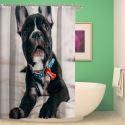 Rideau de douche impression 3D chien mignon pour salle de bain imperméable anti-moisissure