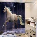 Rideau de douche impression 3D beau cheval pour salle de bain imperméable anti-moisissure