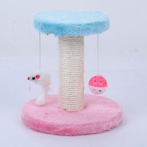 Étagère d'escalade nid en velours sisal rose bleu pour chat