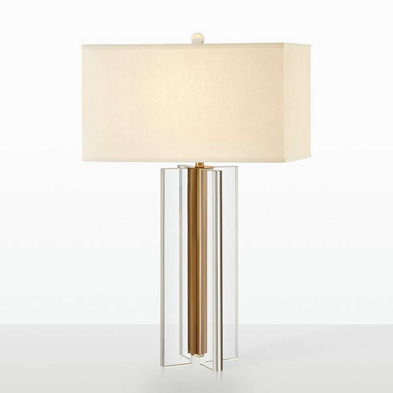 Chambre Transparent Pour Salon Abat Jour À Tissu Cristal H70cm Bas Poser En Lampe Fer Blanc De A354RjL