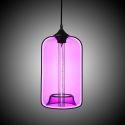Suspension en verre violet H34cm lampe pour cuisine salle à manger boutique