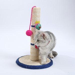 Étagère d'escalade griffoir niches colonne en sisal pour chat