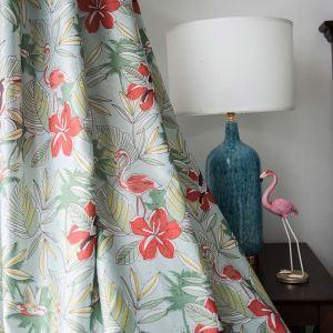 Rideau occultant imprimé en polyester fleur pour chambre à coucher pastoral américain