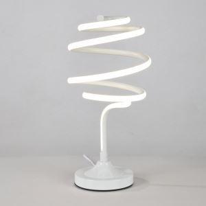 Lampe à poser LED en fer aluminium abat-jour d'acrylique H43cm tourbillonner blanc pour salon chambre