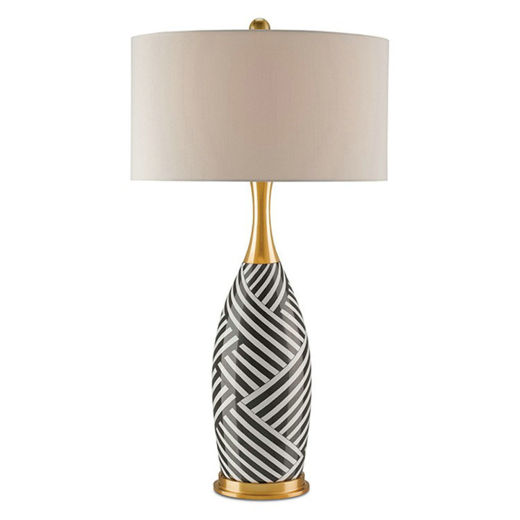 De Rayure Abat Tissu À H82cm Blanc Lampe Poser En Jour Céramique Et EIYWDH92eb