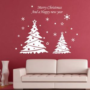 Sticker sapin Noël livraison gratuite