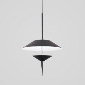 Suspension LED en aluminium D30.5/40.5cm parapluie noir/gris pour salon chambre