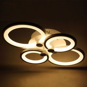 Plafonnier led acrylique L58cm pour salle salon moderne
