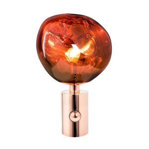 Lampe à poser en métal PVC H43cm plaquage lave en fusion pour bureau chambre simple moderne