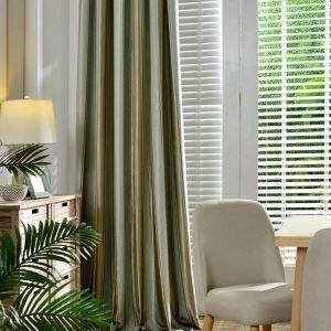 Rideau occultant jacquard en polyester rayure pour chambre à coucher simple