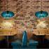 Afficher les détails pour Suspension verre bleu D40cm luminaire pour cuisine restaurant